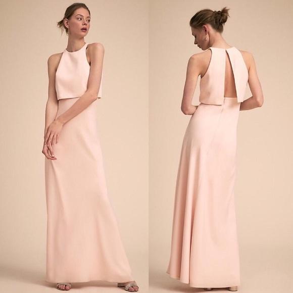 faf53efd302 Jill Stuart Iva Crepe Maxi Dress Powder Pink